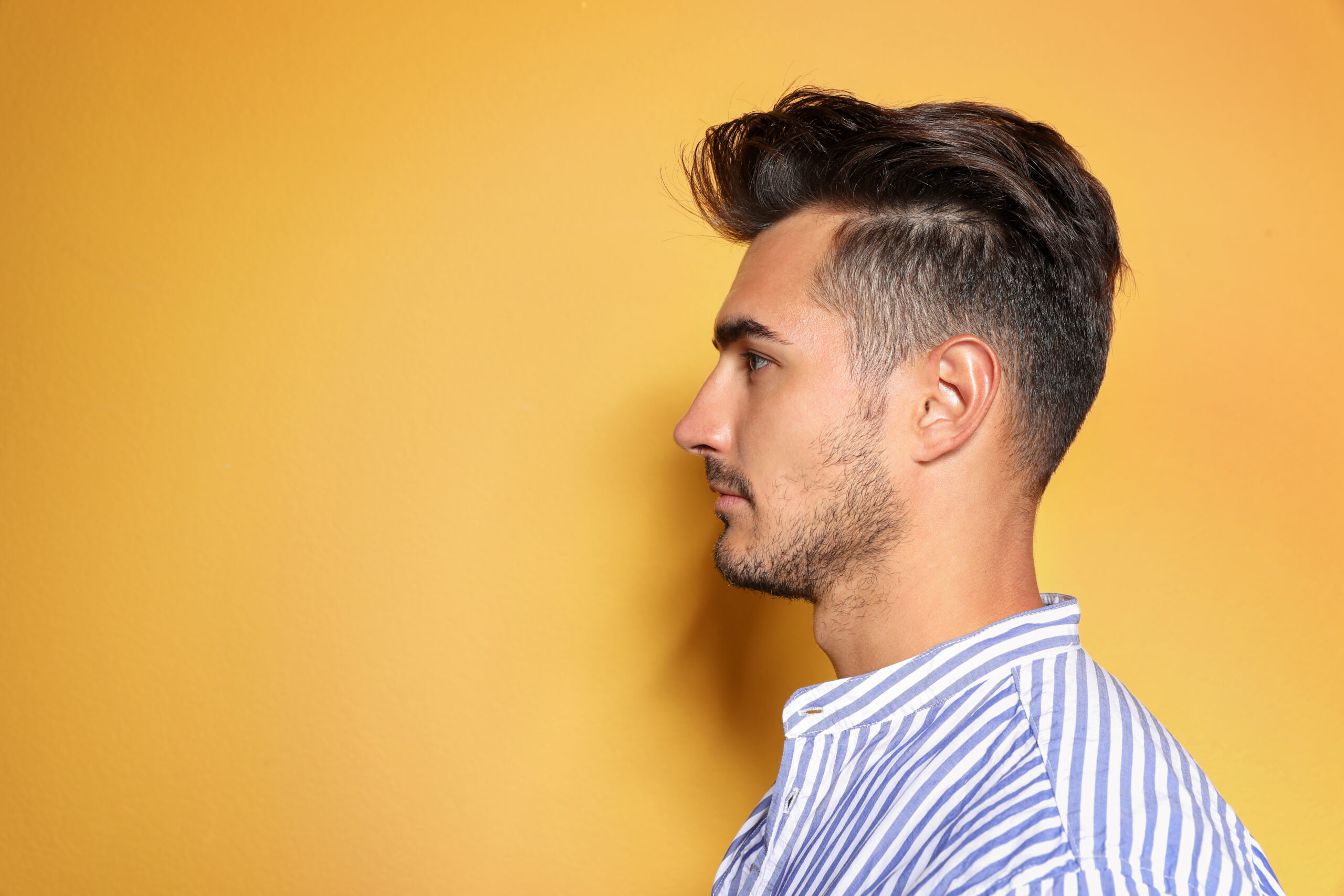 mens hair before after