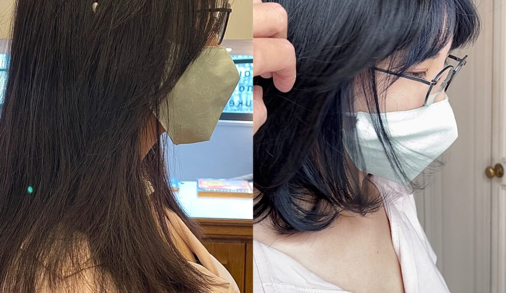 underneath hair colour before and after
